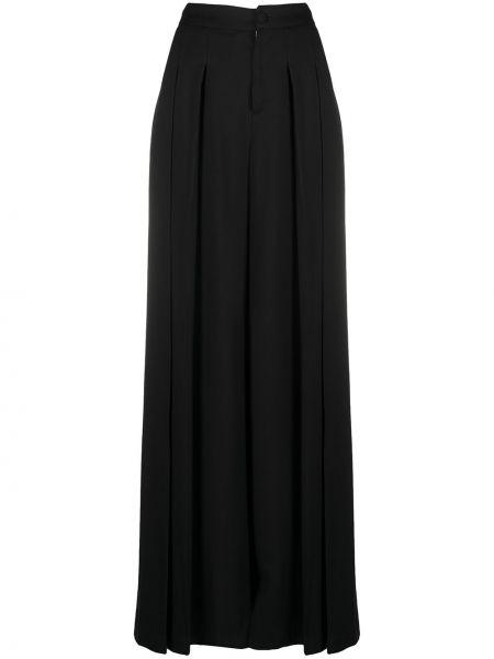 С завышенной талией черные брюки свободного кроя Federica Tosi