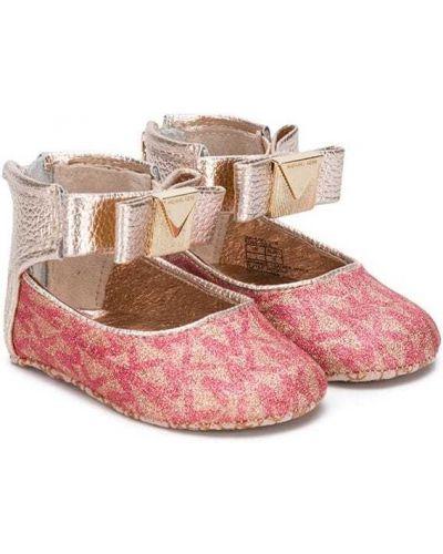 Розовые туфли Michael Kors Kids