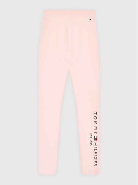 Legginsy - różowe Tommy Hilfiger