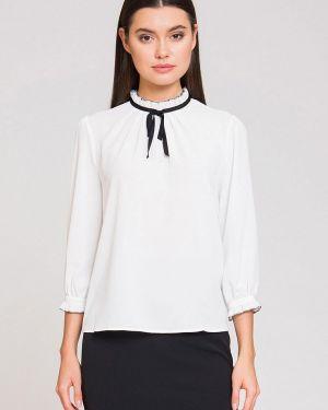 Блузка с длинным рукавом белая осенняя Luisa Wang