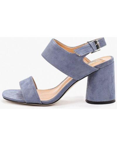 Босоножки на каблуке голубой Inario