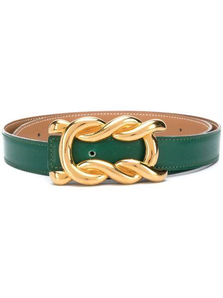 Кожаный ремень с пряжкой золотой с поясом Hermès
