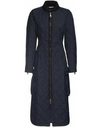 Стеганая куртка двусторонняя с манжетами из габардина с воротником Max Mara Weekend