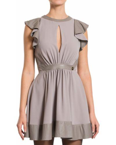 Платье осеннее серое Elisabetta Franchi