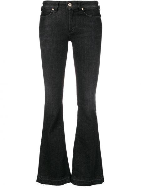 Черные расклешенные джинсы на пуговицах Dondup