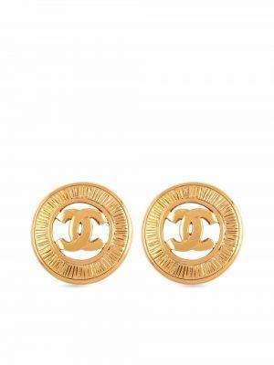 Kolczyki sztyfty pozłacane Chanel Pre-owned