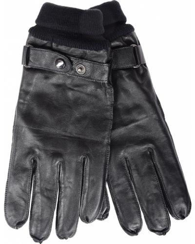 Черные кожаные перчатки Joop!
