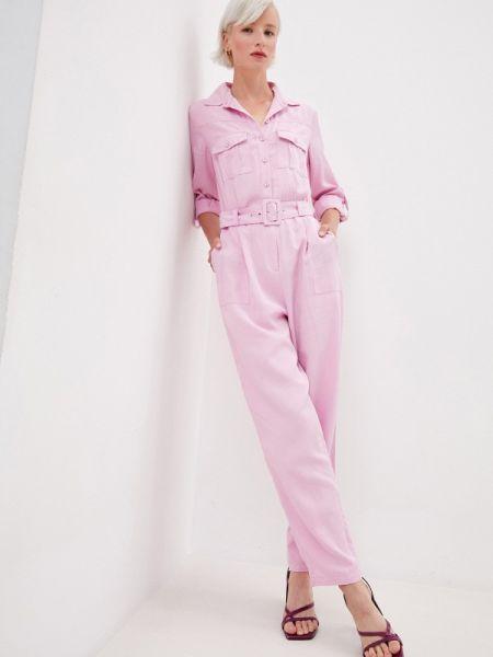 Розовый брючный комбинезон Zarina