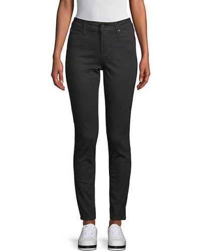 Хлопковые зауженные джинсы-скинни с карманами T-tahari