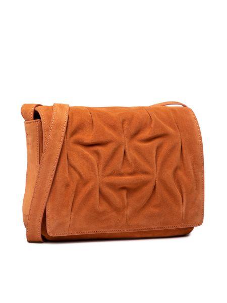 Pomarańczowa torebka zamszowa Coccinelle