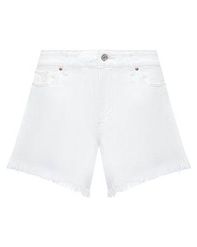 Белые джинсовые шорты из вискозы Paige