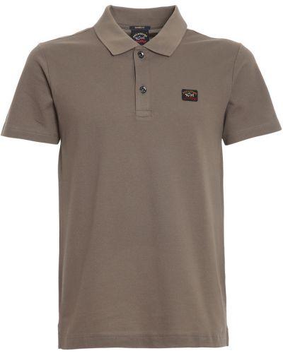 T-shirt bawełniana - szara Paul & Shark