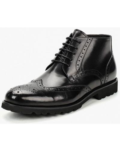 Кожаные ботинки осенние черные Valor Wolf