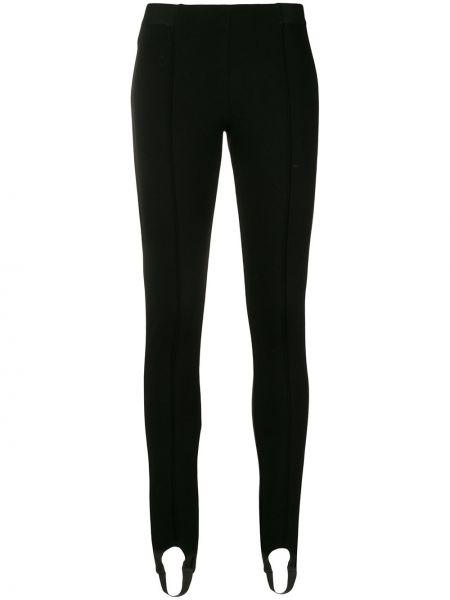 Черные брюки узкого кроя из вискозы Blugirl