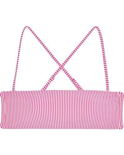 Różowy strój kąpielowy w paski Onia