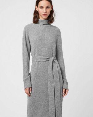 Серое вязаное платье Allsaints