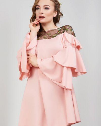 Розовое платье весеннее Olko