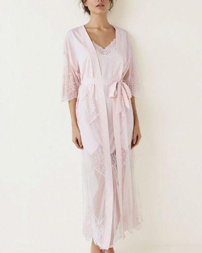 Халат ажурный розовый Women'secret