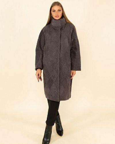 Пальто из овчины - серое каляев