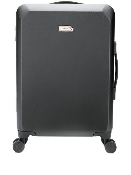 Черный чемодан на молнии с карманами Bally