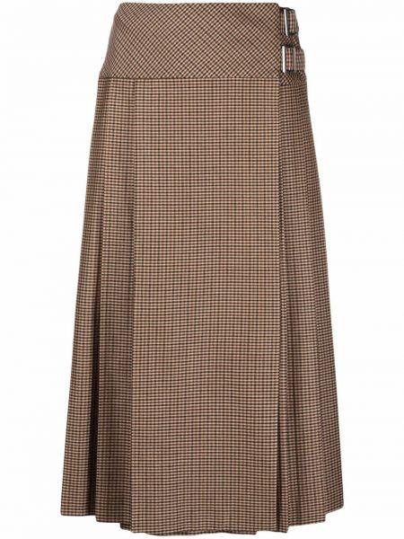 Коричневая юбка из вискозы P.a.r.o.s.h.