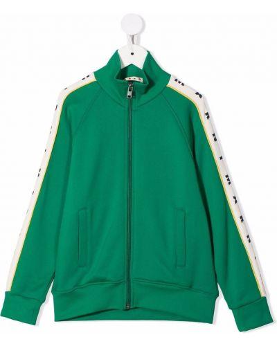 Zielona kurtka bawełniana Marni Kids