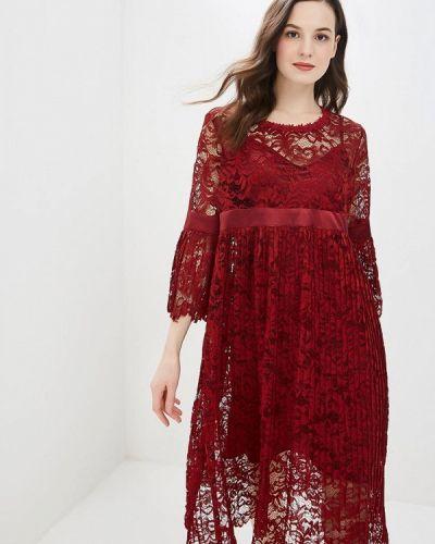 Вечернее платье бордовый весеннее мадам т