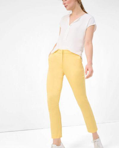 Żółte spodnie cygaretki materiałowe Orsay