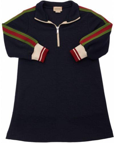 Платье с манжетами Gucci