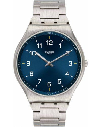 Модные серебряные часы водонепроницаемые Swatch