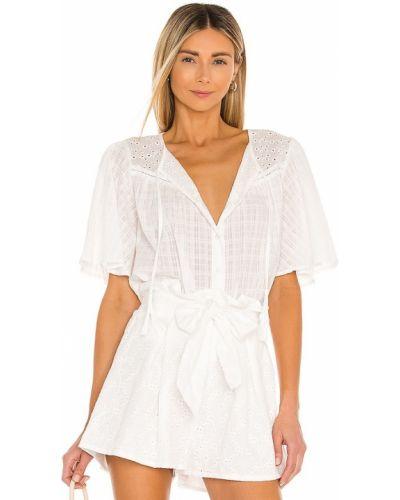 Белая блузка в полоску бохо Minkpink