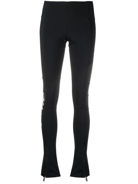 Bawełna bawełna czarny legginsy rozciągać Off-white