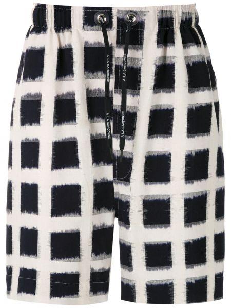 Прямые шорты с карманами на шнурках à La Garçonne