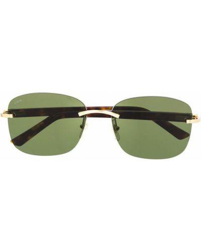 Zielone okulary Cartier