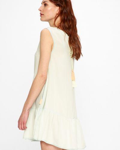 Платье мини с оборками свободного кроя Femi Stories