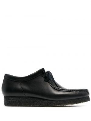 Черные кожаные туфли квадратные Clarks Originals