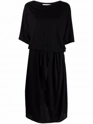 Черное трикотажное платье Henrik Vibskov