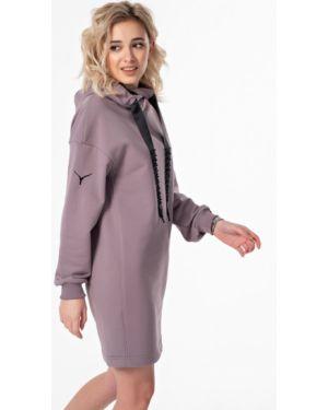 Платье с поясом с вышивкой с бисером Fly