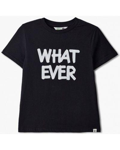 Черная футболка с короткими рукавами Sela