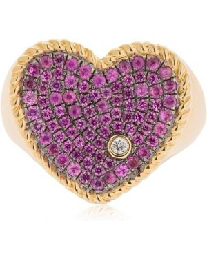 Różowy złoty pierścionek szafir Yvonne Leon Paris