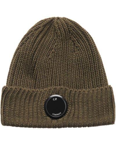 Ciepła zielona czapka beanie na co dzień C.p. Company