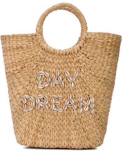 Плетеная сумка с ручками круглая Poolside