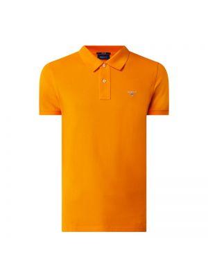 Pomarańczowy t-shirt bawełniany Gant