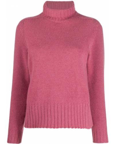 С рукавами шерстяной розовый джемпер в рубчик Avant Toi