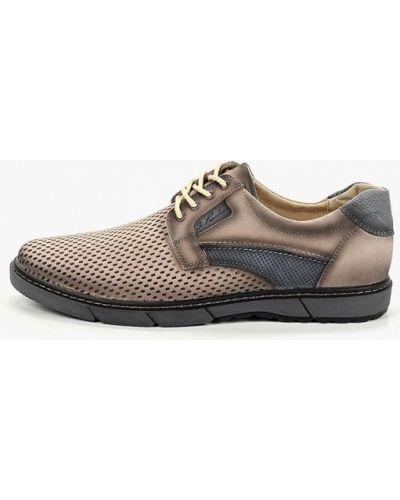 Ботинки из нубука бежевые Kruzo