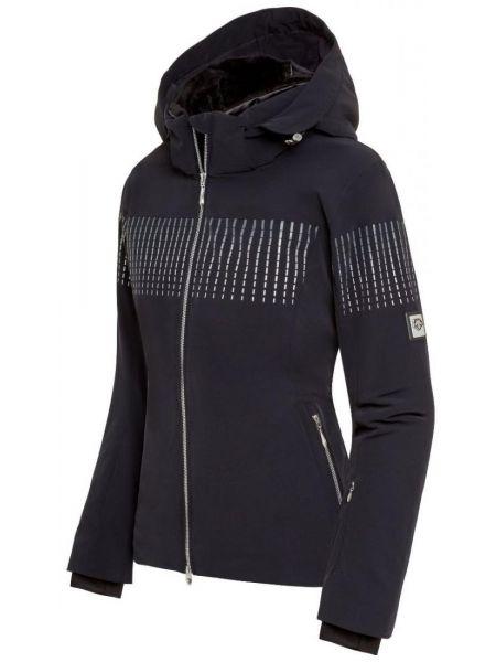 Нейлоновая черная куртка с капюшоном мембранная на молнии Descente