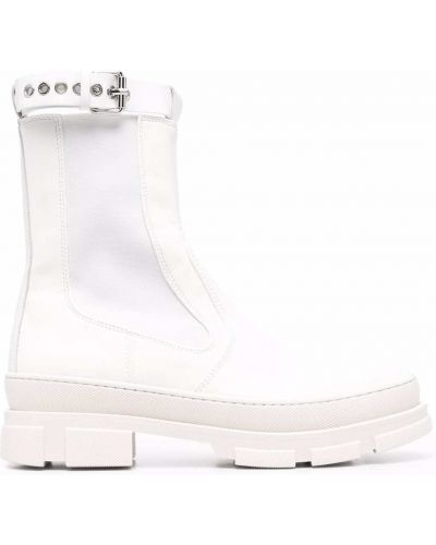 Белые кожаные ботинки Philosophy Di Lorenzo Serafini