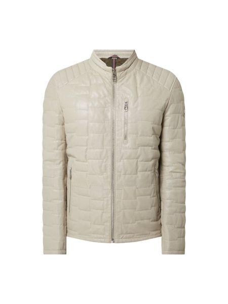 Biała kurtka skórzana Milestone