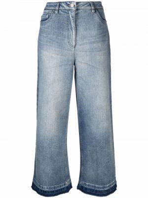 Синие хлопковые джинсы Luisa Cerano