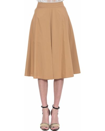 Хлопковая юбка - бежевая Iblues